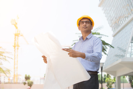 asian business man: indian male architecture Stock Photo