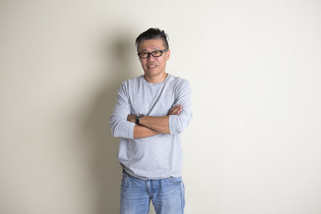 old asian: casual adian senior male Stock Photo