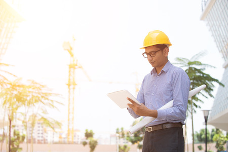 contractor: indian male architecture Stock Photo