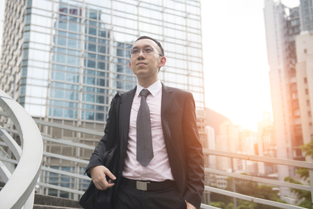 commercial building: hong kong business man