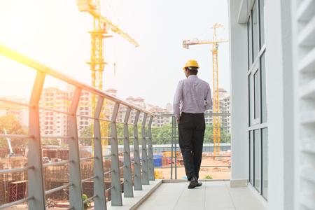 インドの男性建築家屋外 写真素材
