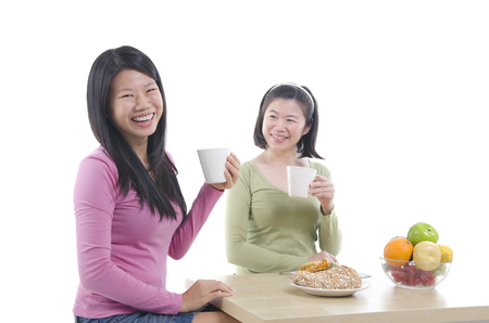asian sisters dining photo