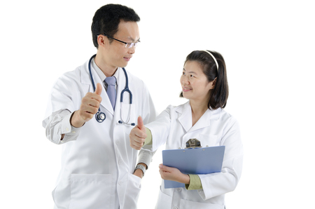 asian doctor and nurse photo