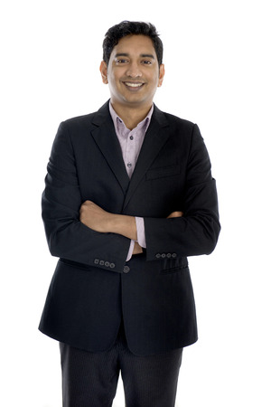 mid thirties: indian business male in a coat Stock Photo