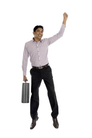 cool man: indian business man jumping