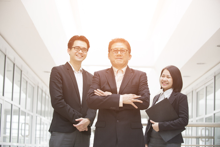 business asia: asian business team outdoor