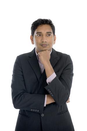 businessman thinking: indian business male thinking