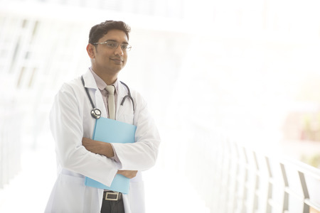 pakistani ethnicity: indian male doctor outdoor