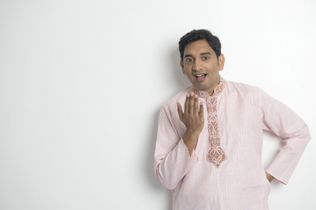 kurta: Traditional Indian young man