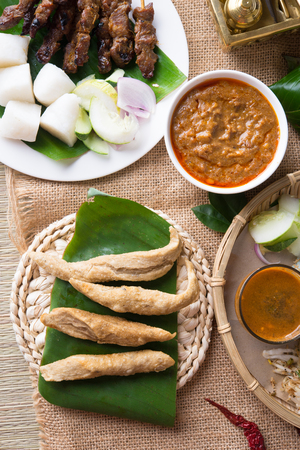 Keropok Lekor, is a Malaysian food that is a favourite snack especially in the east coast of the Malaysian Peninsula. Stock Photo