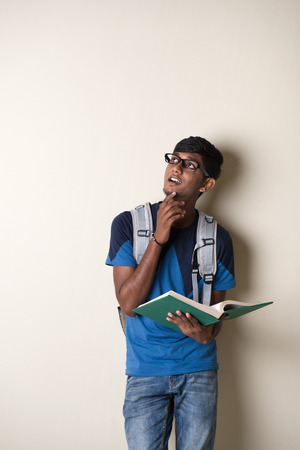 young male: teenage indian male college student