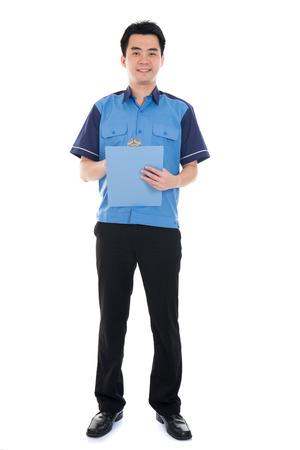 asian delivery male Standard-Bild