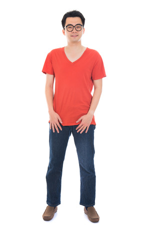 the whole body: asian man in casual