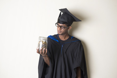 college fund savings: indian male education funds concept photo Stock Photo