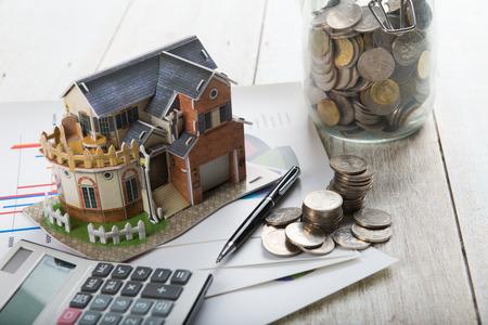 Concept of real estate financing Archivio Fotografico