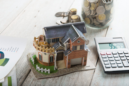 real: Concept of real estate financing Stock Photo