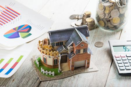 escrow: Concept of real estate financing Stock Photo
