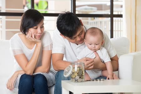 multi family house: asian parent with education concept photo