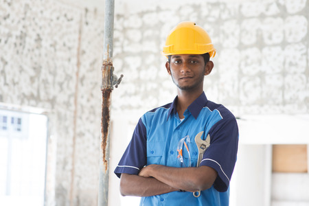 indian male plumber Stock Photo