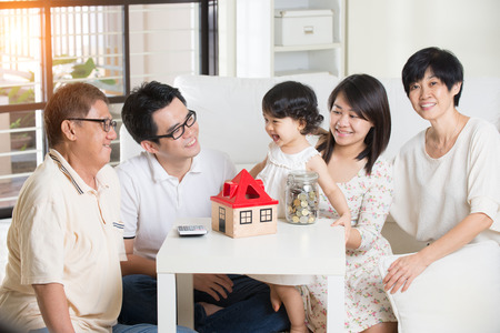 asian family finance concept photo