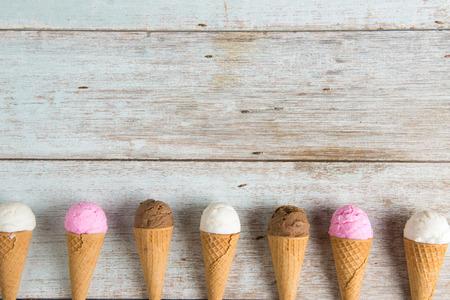 various ice creams Archivio Fotografico