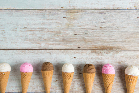 various ice creams Stock Photo