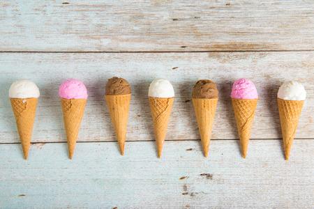 various ice creams Zdjęcie Seryjne