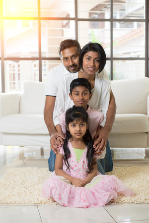indian family portrait indoor photo