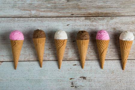 various ice creams Stock Photo