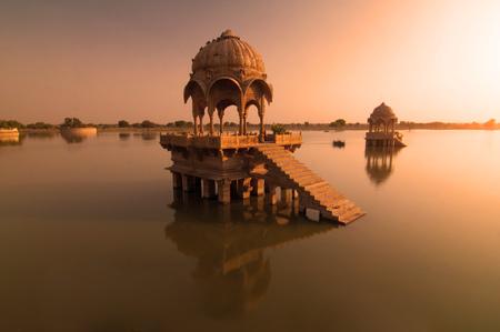 sagar: gadi sagar temple of Rajasthan, india