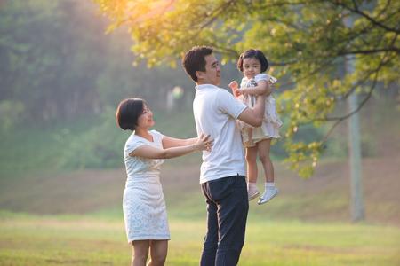 asian family outdoor