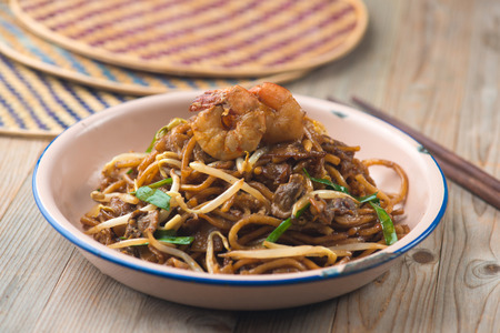 Fried Penang Char Kuey Teow , popular fried noodle