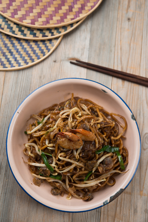 nutrients: Fried Penang Char Kuey Teow , popular fried noodle