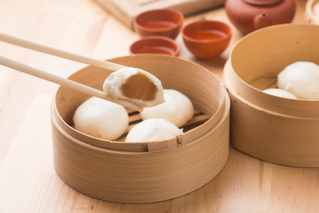 south east: bao ,popular chinese dim sum food Stock Photo