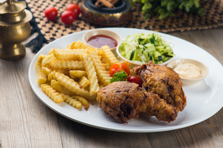 arabic fried chicken Stock Photo