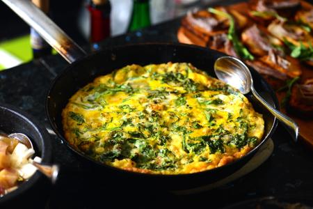 fritata italian egg omelette Foto de archivo