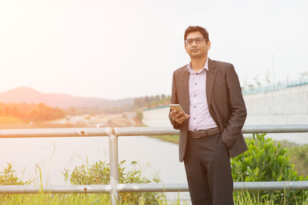 indian business male with container background photo