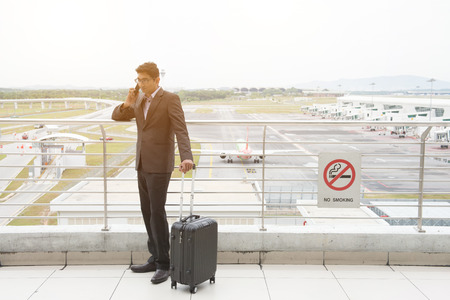 indian business male travelling at airport photo