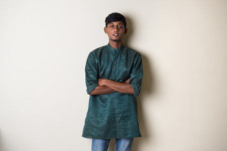 dhoti: traditional teenage indian male Stock Photo