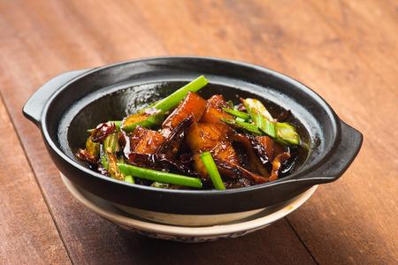 dry chilli ba kut teh , malaysian pork stew Stock Photo