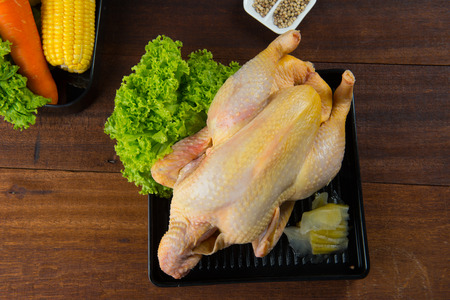 chinese steamed whole chicken Stock Photo