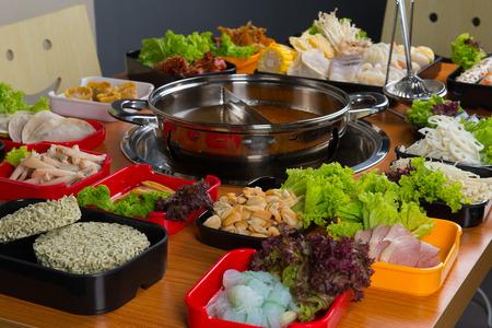 asian hot pot   Stock Photo