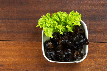 black chinese fungus food   Stock Photo