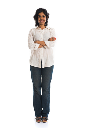 casual indian female Stock Photo