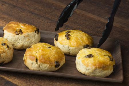scones with backgrounds Stock Photo