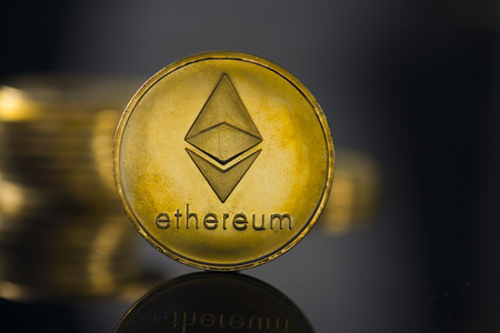 ethereum crypto currency Stock Photo