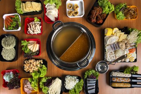 Hot Pot avec vue à plat double saveur