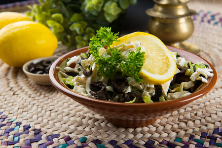 arabic salad with background Imagens