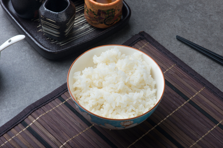 japanese rice with background
