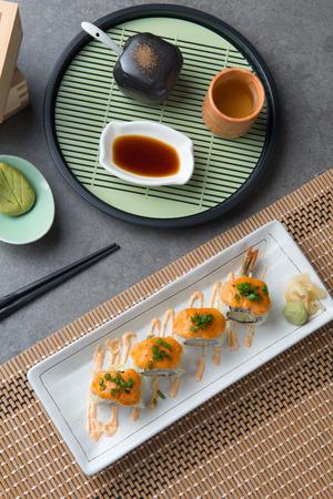 ebi tempura roll with cheese